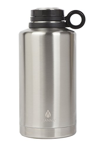 Manna Ring Growler | 64oz Vacuum Insulated Stainless Steel | Craft and IPA Beer Growler | Keeps Beverages Fresh and Cold up to 24 Hours | Lead and BPA Free - Stainless Steel by Manna (Image #5)