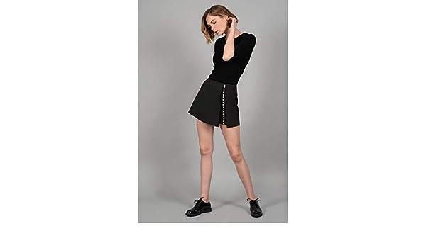 MOLLY BRACKEN P1114 Falda Mujer Negro M: Amazon.es: Ropa y accesorios