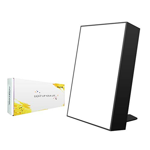 10,000 Lux Happy Energy Light Therapy Simulated Natural Sunlight Full Spectrum LED Lamp Light Box Portable Thin Border Design Aluminum Alloy Material ()