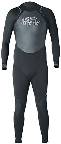 Hyperflex Wetsuits Men's Access 3/2mm Full Suit, Black/Silver, Small - Surfing, Windsurfing & Wakeboarding