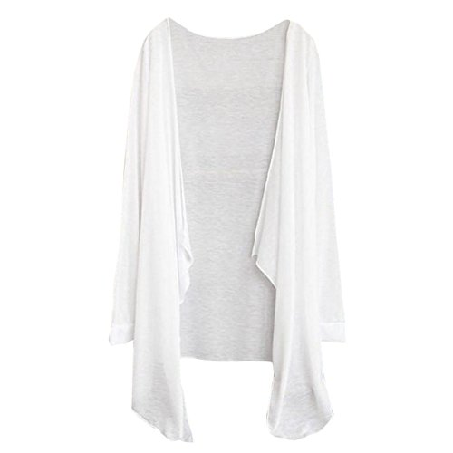 Delgada Ropa Cardigan Moda Tops De La Mujer Blanco Chaqueta Solar Camisas Larga Protección nqw61Swpxt