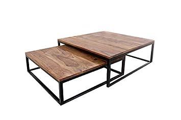 Table 75cm Bois De Design MassifAmazon 2 New Fusion Ensemble Basse gyv7f6Yb