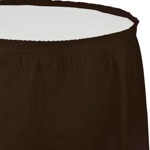 Creative Converting Plastic Table Skirt, 14-Feet, Chocolate Brown