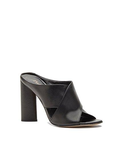 Poi Lei Damen-Schuhe High Heel Pantoletten Verona Echtleder Schwarz -Made in Italy-
