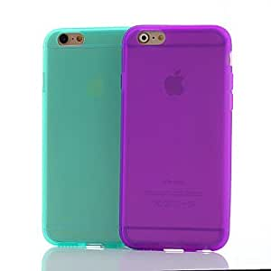 SHOUJIKE Classic Simplicity Soft Case for iPhone 6(Assorted Colors) , Purple