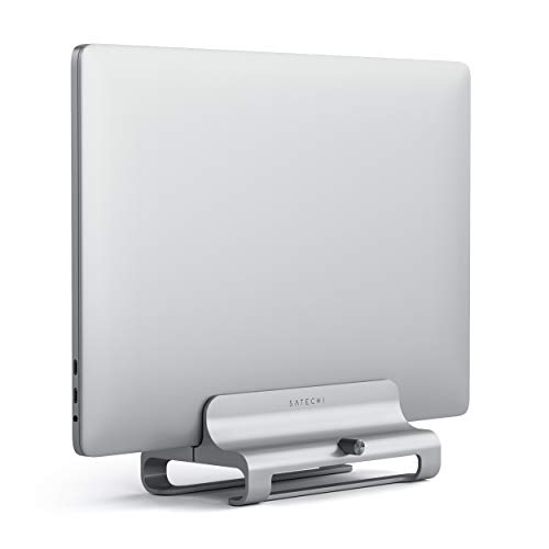 Satechi Universal Vertical Aluminum Laptop Stand - Compatible with MacBook, MacBook Pro, Dell XPS, Lenovo Yoga, Asus Zenbook, Samsung Notebook and More (Silver)