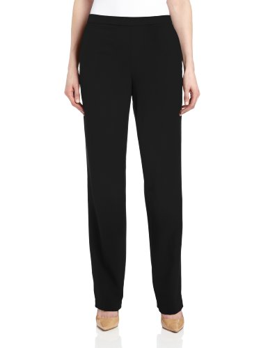 Briggs New York Women's Pull On Dress Pant Average Length & Short Length, Black, 18