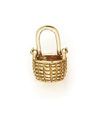Mini Panier de 14 Carats Pendentif Enfant-JewelryWeb