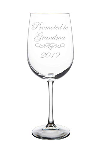 Promoted to Grandma 2019 wine glass, 19 oz. (Best Value Wines 2019)