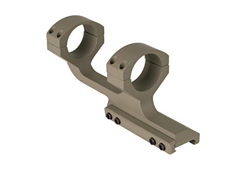 Monstrum Slim Profile Series Offset Cantilever Picatinny Scope Mount | 1 inch Diameter | Flat Dark Earth