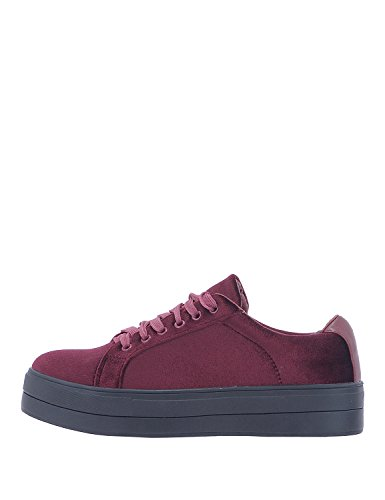 LOUVEL Women Sneakers Red in Size US 9