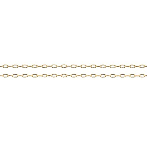 14Kt Gold Filled 2.2x1.2mm Elongated Drawn Cable Chain - 5ft (5327-5)/1