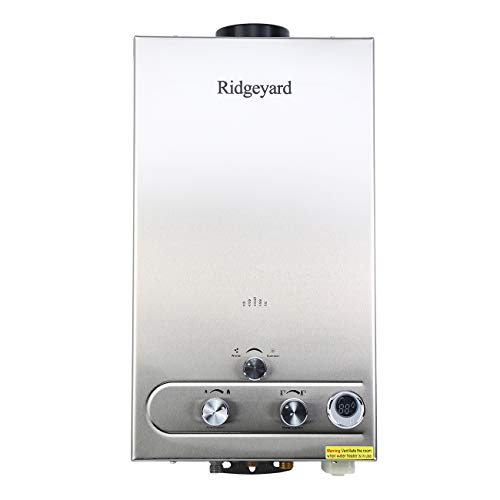 (Ridgeyard 12L LPG Gas Tankless Water Heater Instant Hot Water Boiler Burner with Shower Head and LCD Display (12L))