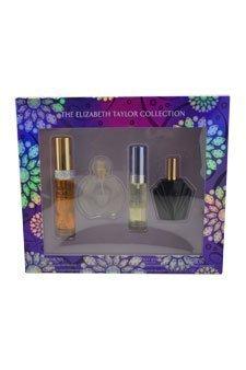 Elizabeth Taylor Fragrance Collection 4-Piece Set for Women (White Diamonds, Forever Elizabeth, Violet Eyes, Passion) ()