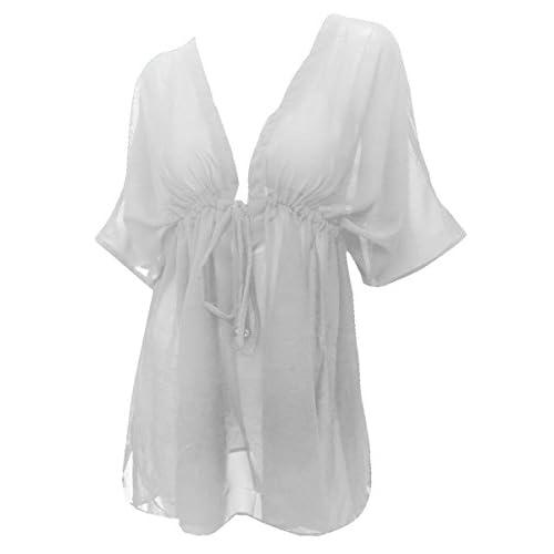 73e9363885836 80%OFF CHIFFON LIGHTWEIGHT Blouse Swimwear Swimsuit Beachwear Bikini Cover  up US L - 7X