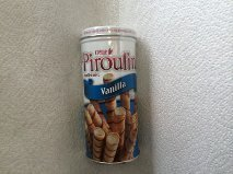 Pirouline French Vanilla Cream De Pirouline, Cream Filled Wafer Rolls,(3.25 Oz) by Crème de (French Wafers)