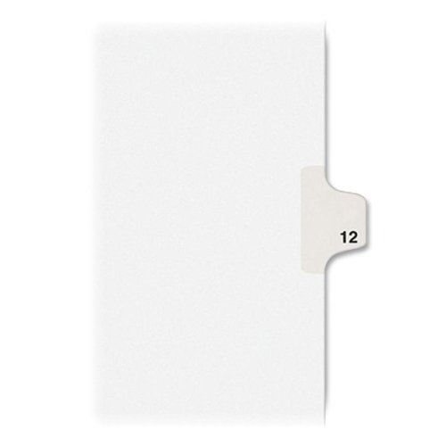 Wholesale CASE of 25 - Avery Style Individually Numbered Tabs-Numeric Divider,