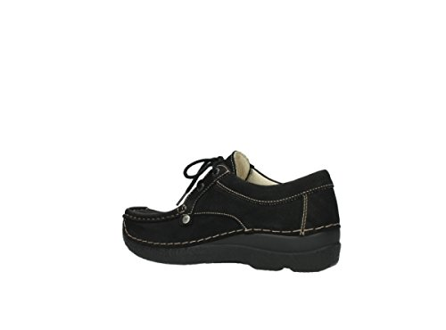 Comfort Black Nubuck lacets à Seamy 10000 Wolky Chaussures Stroll PdnqwUz