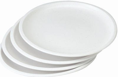 Progressive GMMC-50 Microwave Plate Set, White, 9-3/4-In., 4-Pc. - Quantity 3