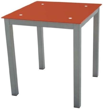 Mesa cocina Refez cristal templado 6mm color rojo 74x70x70 cm ...