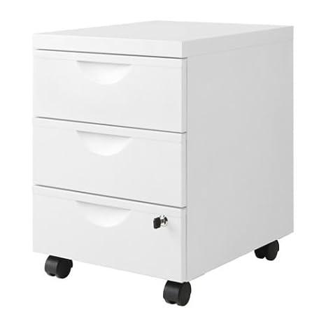 Ikea Erik - Cajonera w 3 cajones con Ruedas, Blanco - 41x57 cm: Amazon.es: Hogar