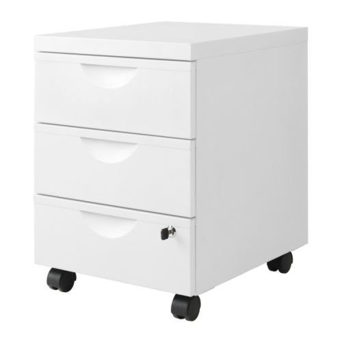 Ikea Erik - Cajón Unidad w 3 cajones con Ruedas, Blanco - 41 x 57 ...