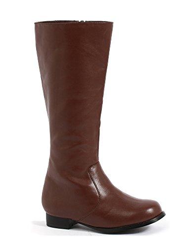 1 Inch Heel Children's Boot. (Brown Pu;Large)
