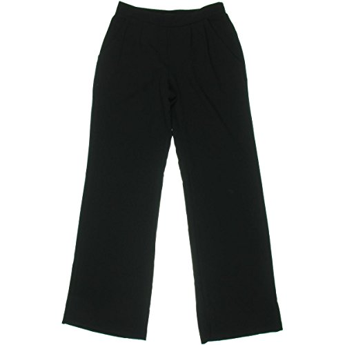 BCX 1894 Womens Black Crepe Double Pleate Solid Wide Leg Pants Juniors XL Bhfo for sale