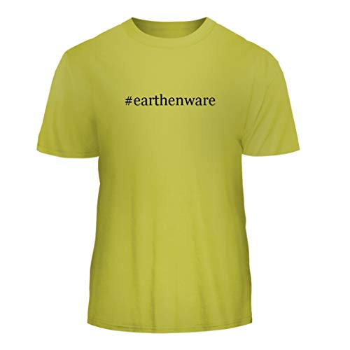 Tracy Gifts #Earthenware - Hashtag Nice Men's Short Sleeve T-Shirt, Yellow, -