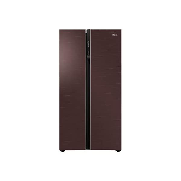 Haier 570 L Inverter Frost-Free Side-by-Side Refrigerator with Twin Inverter Technology (HRF-622CG, Brown, Chocolate… 2021 August Frost-free Side by Side refrigerator with Twin Inverter Technology-ensures that the compressor & fan can run at different speeds Capacity: 570 litres suitable for a large family Energy rating: , Annual energy consumption: 358 per year