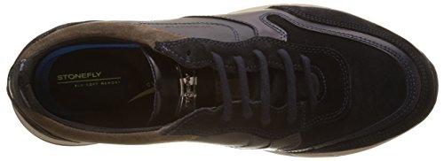 Stonefly Herren Warren 5 Velour Sneaker Blau (Navy/bison)