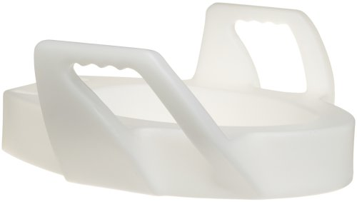 DMI Raised Toilet Seat, Toilet Seat Riser, Elevated Toilet Seat, Elongated, White