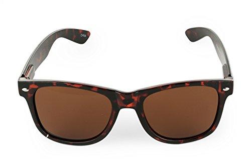 E&H Polarized classic Wayfarer Sunglasses retro style … Brown