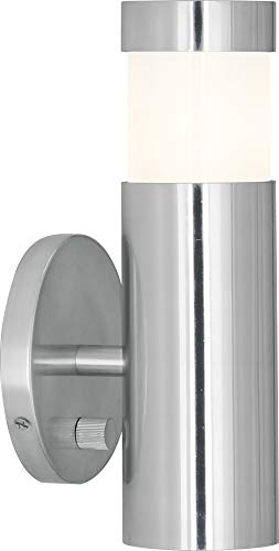 Robert Abbey 597 Peek - Two Light Wall Sconce, Polished Aluminum Finish with Cased White Glass ()