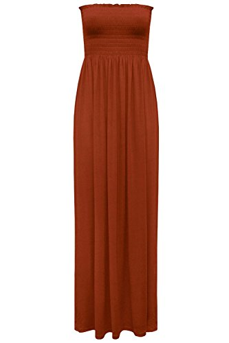 maniche Star Vestito Senza Fashion Rust Donna 0xFwq0tC