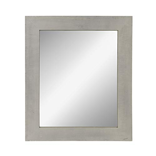 Kate and Laurel Garvey Wood Framed Wall Mirror, Rustic Gray