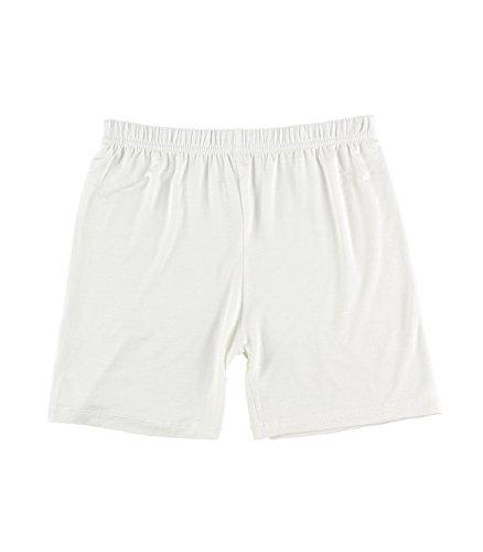 Liang Rou Women's Ultra Thin Stretch Short Leggings Plain Off-White ()