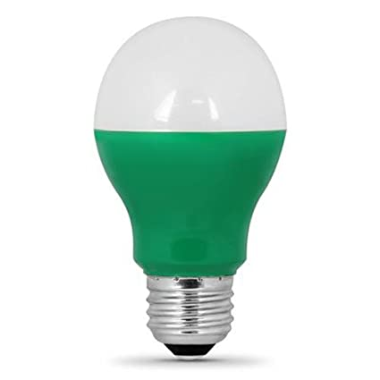 Feit Electric A19/G/LED A19 Green LED - - Amazon.com