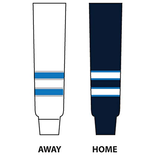 DoGree Hockey Winnipeg Knit Hockey Socks, 24-Inch, Blue/White (Winnipeg Jets Hockey)