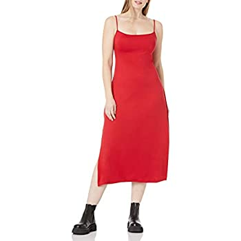 Amazon Model – Wild Meadow Ladies's Spaghetti Strap Bib Entrance U Again Knit Midi Gown