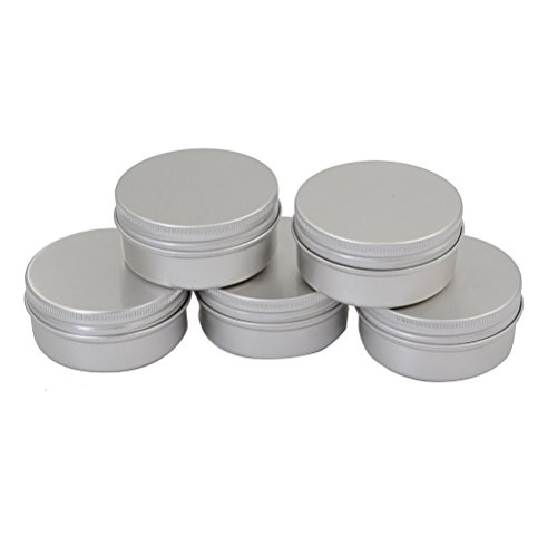 2de82f34ca04 CTKcom Screw Top Round Steel Tins,1-Ounce, For Lip Balm, Crafts, Cosmetic,  Candles, Storage Kit(Pack of 10)