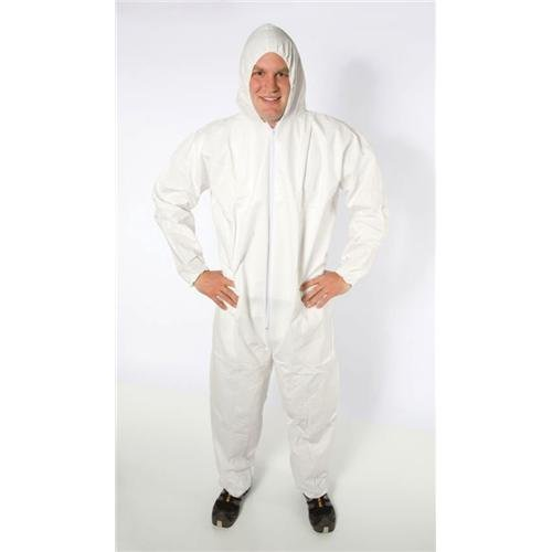 White Elastic Wrist and Ankle 2XL Safety Zone DCWH-2X-BB-HEWA Breathable Microporous Coverall with Hood The Safety Zone Pack of 25
