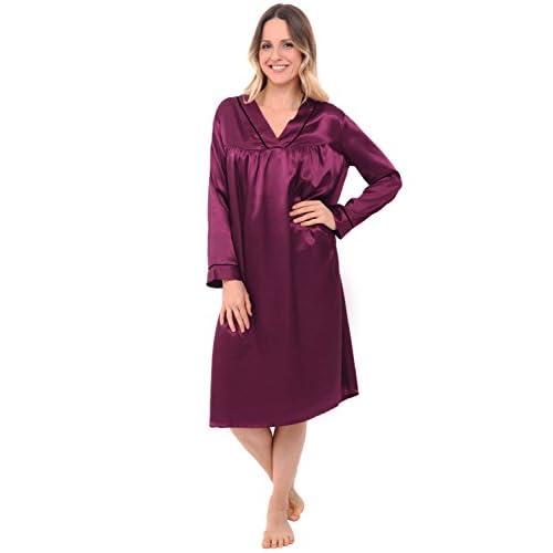 Del Rossa Womens Satin Nightgown 0677e2b6a