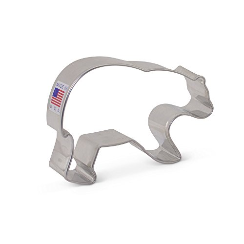 Bear Cookie Cutter - 3.68 Inch - Ann Clark - US Tin Plated -