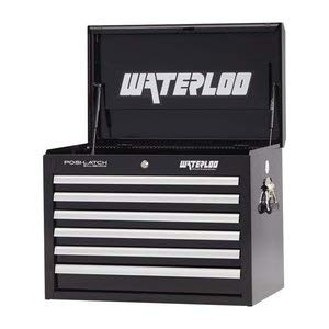 Waterloo Professional Series 6-Drawer Tool Chest with Internal Tubular Keyed Locking System, Black Finish, 26