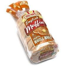 Oroweat English Muffins 6 Count Bag (Pack of 3) (100% Whole Wheat - Sliced) -