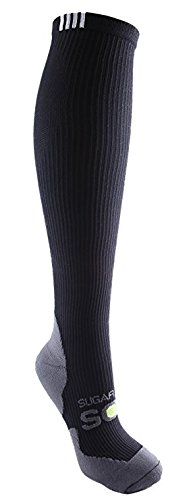 Compression Socks Knee High | Womens Black Pro Series (1 pair) | 15-20 mmHg Graduated | Sock Size 9-11 | Improve Foot Health Comfort Circulation for Running, Travel