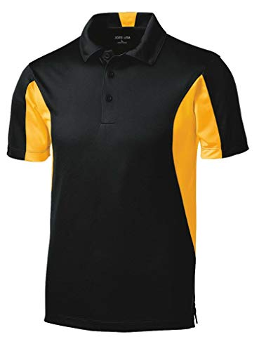 Joe's USA Micropique Tall Polo's in Size X-Large Tall -XLT Black/Gold