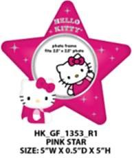 Hello Kitty Pink Star Picture Frame for Girls- One Size