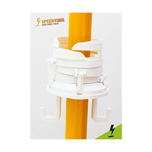 Speedymil Porta Bicchieri e Porta Borse per ombrelloni (Bianco) 4 spesavip